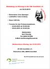 Trainingszeiten Körung Coesfeld 30.03.2019